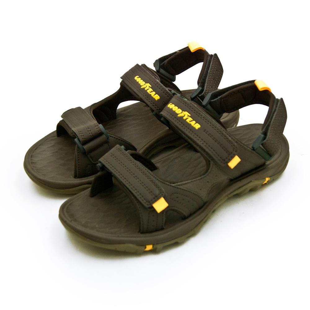 GOODYEAR 專業戶外踏青越野沙灘運動涼鞋 咖啡 93603