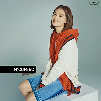 H:CONNECT 韓國品牌 女裝-滾邊撞色排扣針織外套-白 - 動態show
