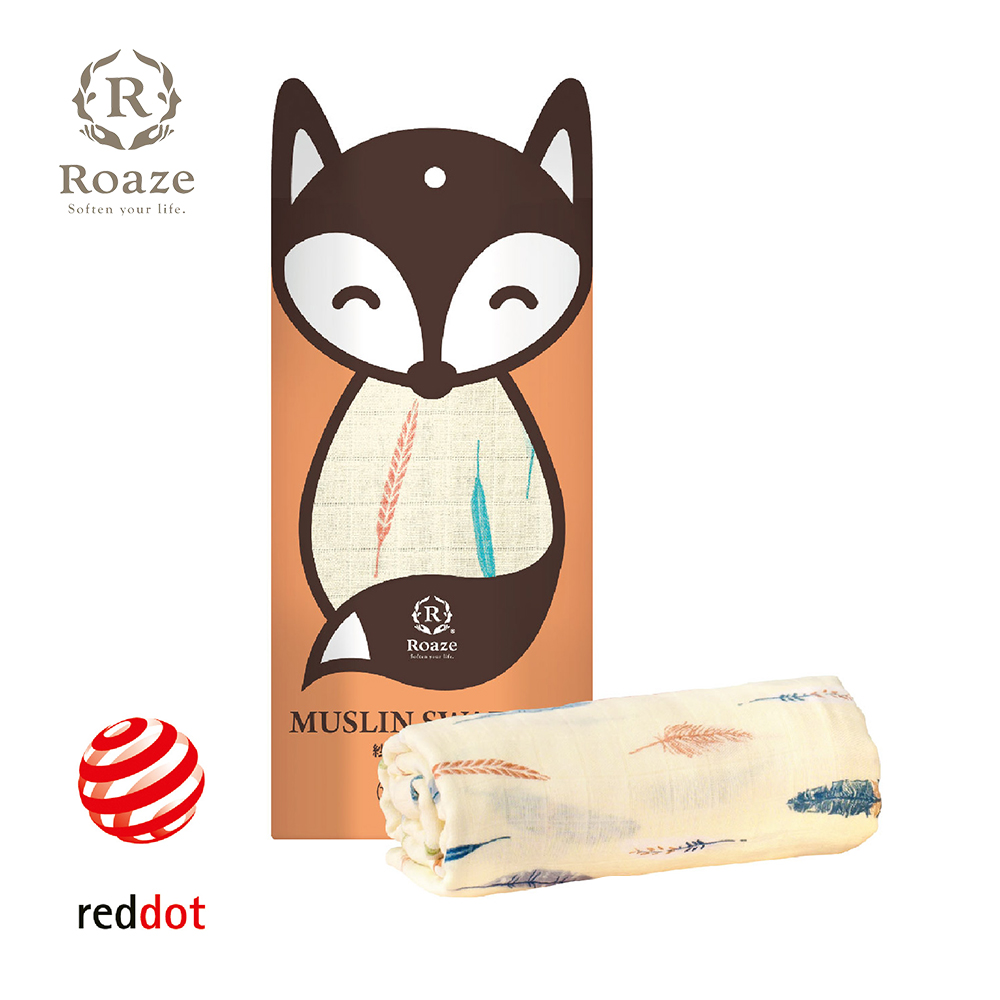 【Roaze 柔仕】 棉柔包巾毯 - 手繪絨羽