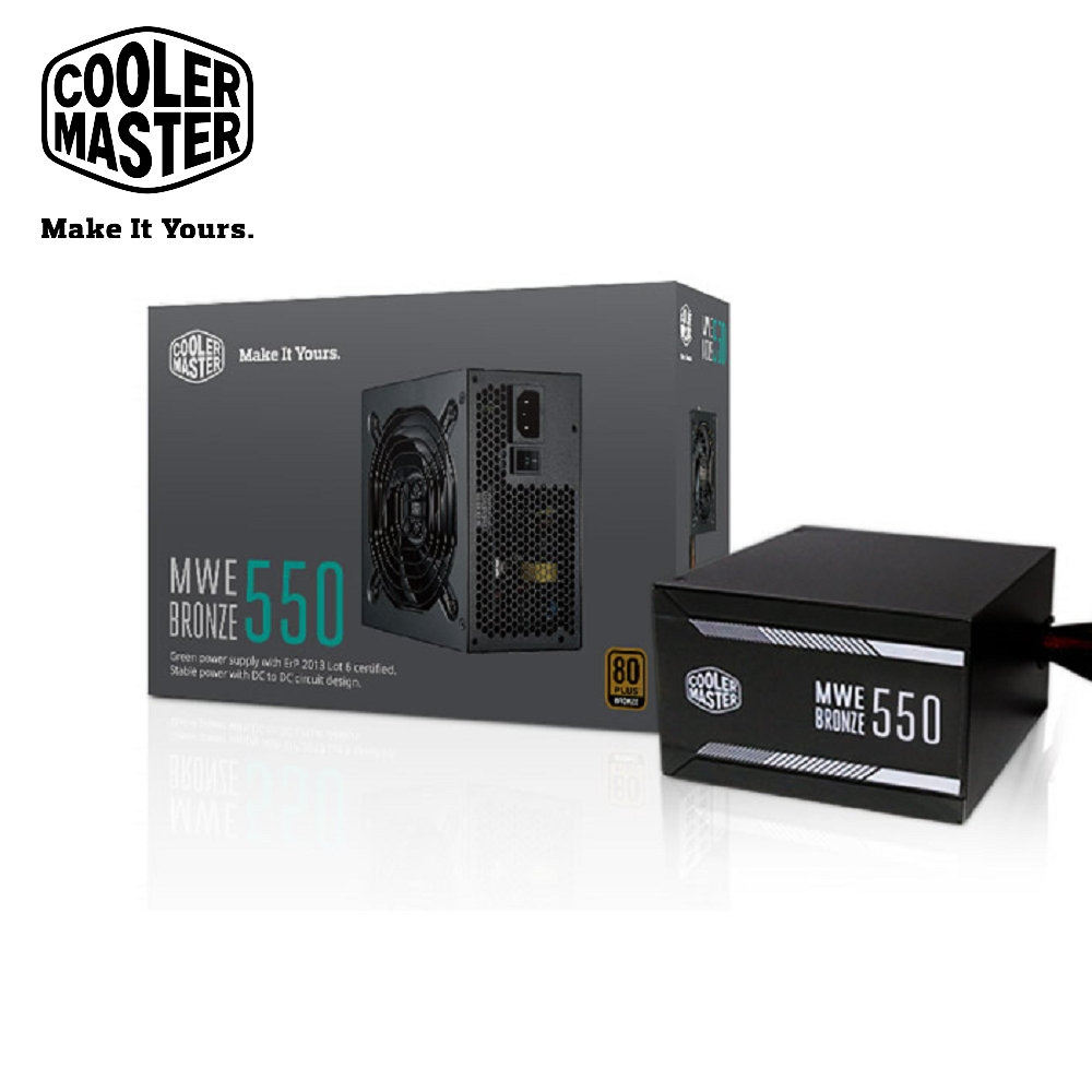 Cooler Master MWE 80Plus銅牌 550W 電源供應器