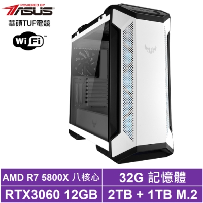華碩X570平台[天魁骨龍]R7八核RTX3060獨顯電玩機