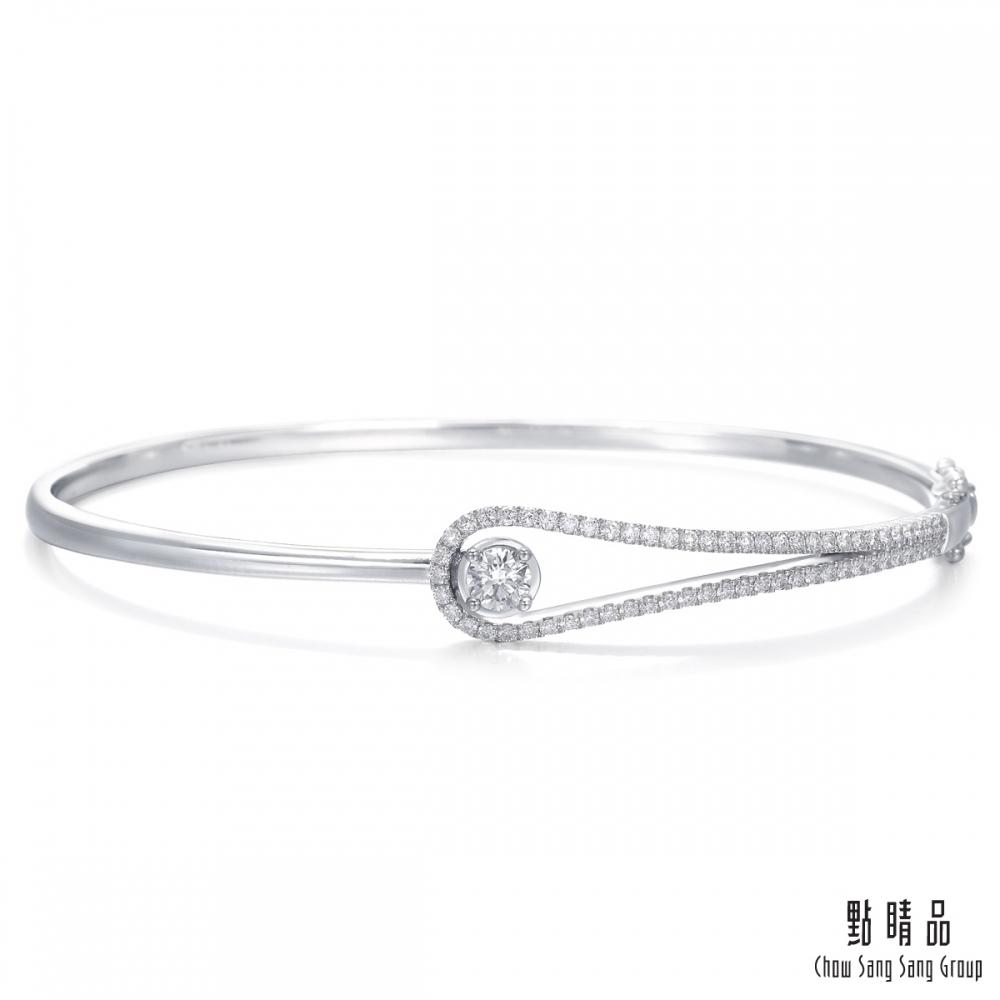 點睛品 50分 耀眼流星 18K金鑽石手環