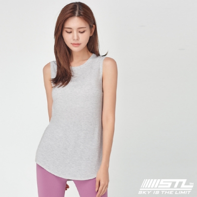 STL yoga 韓國瑜珈 ESSENCE SL 運動機能本質輕透無袖背心上衣 氣質灰PearlHeather