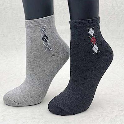 三合豐 ELF 女性竹炭菱格抗菌除臭短襪-6雙