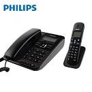 PHILIPS 2.4GHz子母機數位無線電話DCTG182