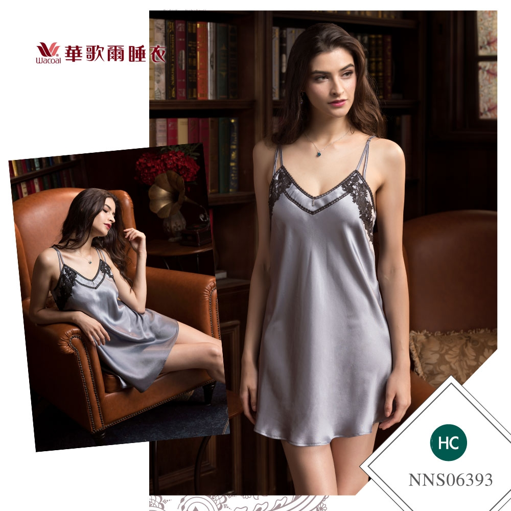 華歌爾睡衣-曖昧曲線 M-L性感裙裝(墨綠) 沙典