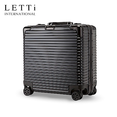 LETTi  時尚饗宴 20吋 商旅鏡面鋁框行李箱  (太空黑)