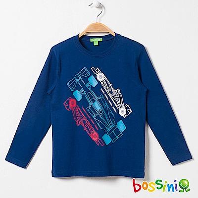 bossini男童-印花長袖T恤01海藍
