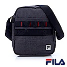 FILA職人時尚剪接斜背包-簡約灰