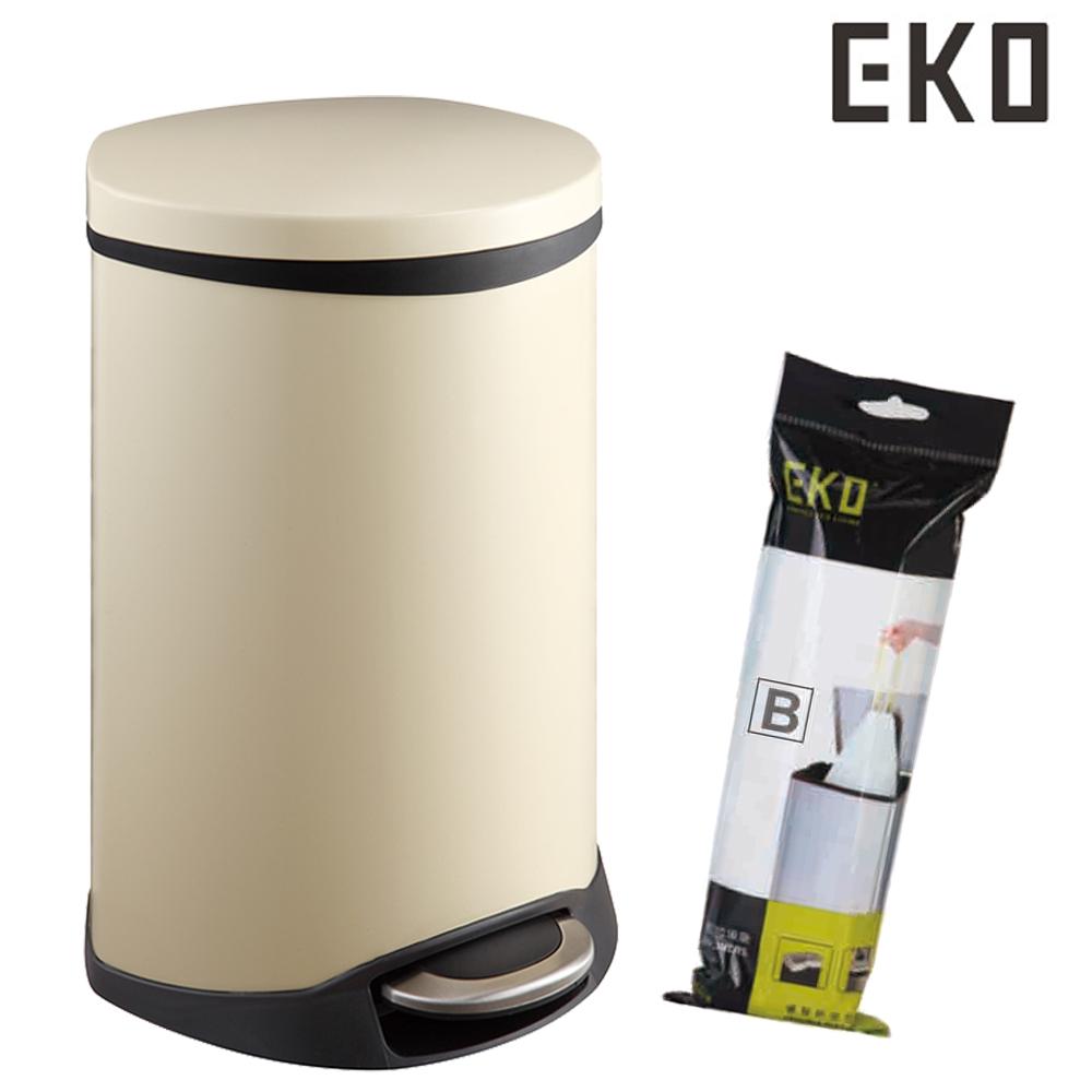 EKO 海貝不鏽鋼垃圾桶10L 贈EKO垃圾袋