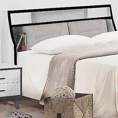 綠活居 奧迪時尚5尺貓抓皮革雙人床頭箱(不含床底)-152x30x108cm免組
