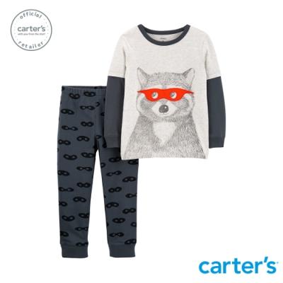 【Carter s】可愛浣熊上衣2件組套裝(12M-18M) (台灣總代理)