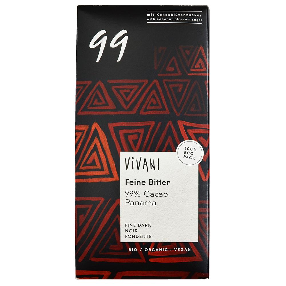Vivani 有機99%黑巧克力片(80g)