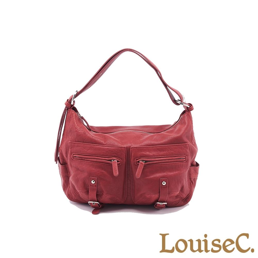 【LouiseC.】義大利水洗羊皮愛旅包-紅色 (LC3143-01)