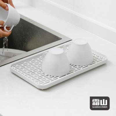 日本霜山 多功能廚具碗盤雙層瀝水盤/托盤-寬型