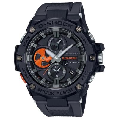 CASIO卡西歐 G-SHOC藍芽連線指針錶 (GST-B100B-1A4)