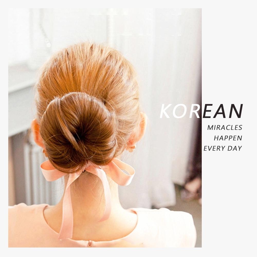【Cap】緞帶蝴蝶結丸子頭盤髮器 (大號)