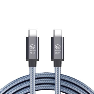SEKC Type-C to Type-C 1.2m 60W高速傳輸線 (淺灰)