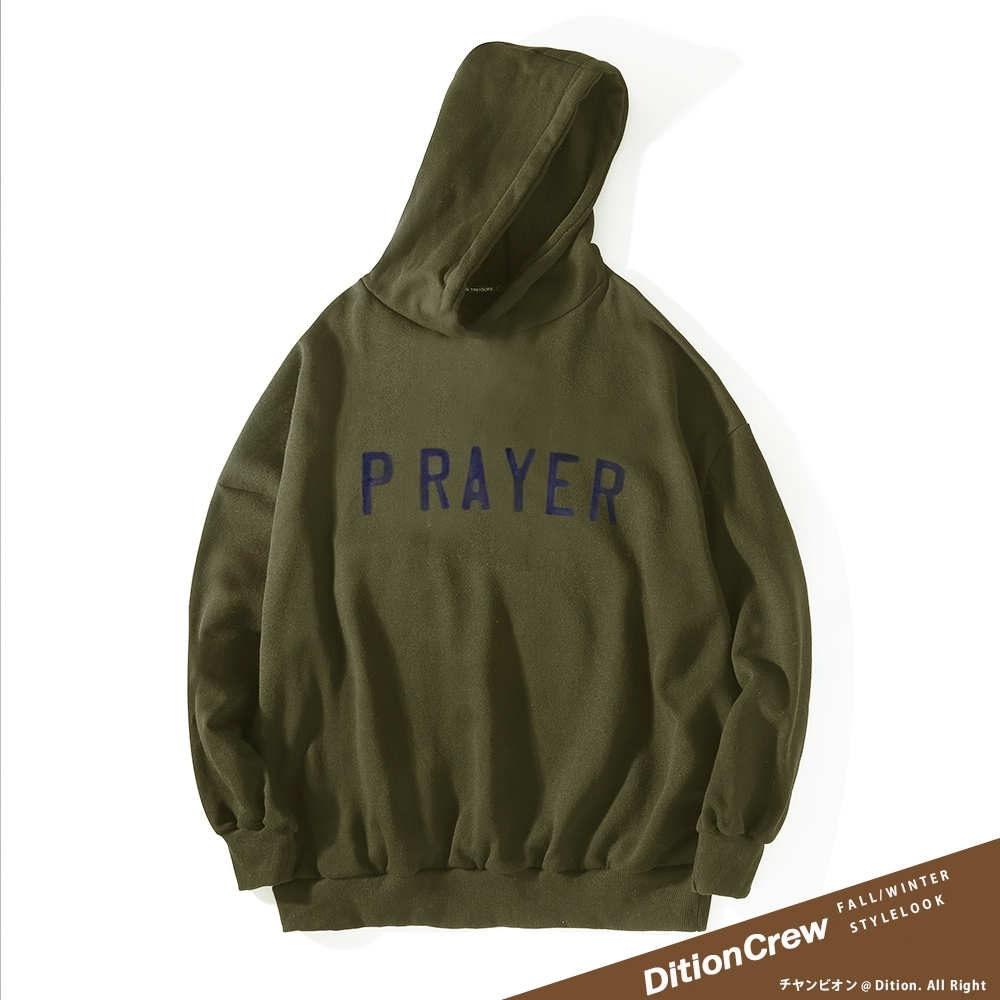 DITION 虔誠祈禱PRAY連帽T 保暖長袖上衣 oversize 聖母 JESUS耶穌
