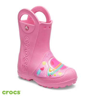 Crocs 卡駱馳 (童鞋) 趣味學院銀河流星提把雨靴 205956-669