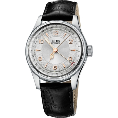 Oris Big Crown Original 指針式日期機械腕錶-銀/40mm