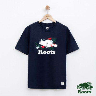 男裝Roots 夏威夷庫柏海狸短袖T恤-藍