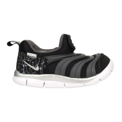 NIKE DYNAMO FREE -TD 男小童休閒運動鞋- 童鞋 毛毛蟲鞋 DC3273001 黑灰銀