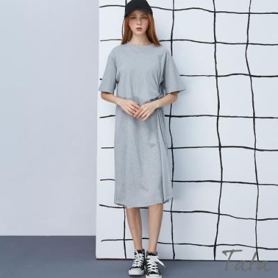 扭結不收邊休閒洋裝 TATA-(M/L)
