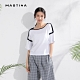 【MASTINA】設計拼接款-針織衫(三色/魅力價格) product thumbnail 1