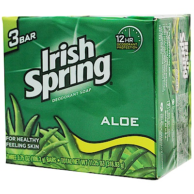 美國 Irish Spring 蘆薈香皂- 106 . 3 g( 3 入組)