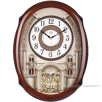 POWER霸王鐘錶-歐洲樂隊音樂鐘-奢華銀-PW-6251-JRMKS2-57.5CM