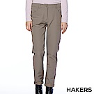 【HAKERS】女款 彈性機能褲(棕卡色)