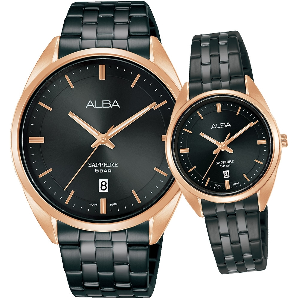 ALBA 雅柏 經典大三針時尚對錶(VJ42-X303SD+VJ22-X323SD)
