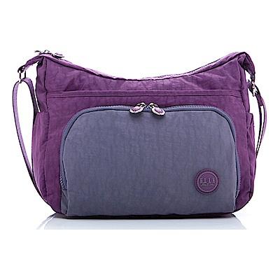 ELLE Active 城市微旅行-側背包/斜背包-大-紫色