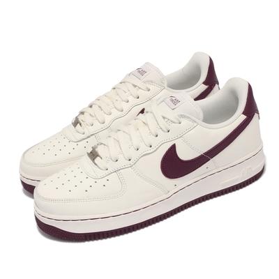 Nike 休閒鞋 Air Force 1 Craft 男鞋 經典款 皮革 AF1 球鞋 穿搭 米白 酒紅 DB4455-100