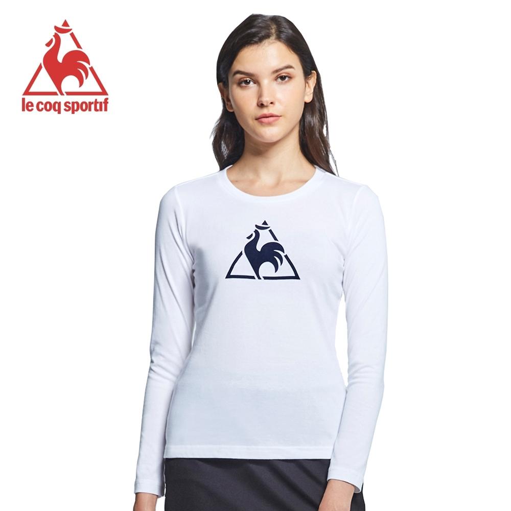 le coq sportif 法國公雞牌休閒長袖T恤 女-白