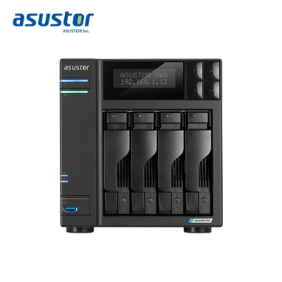 ASUSTOR華芸 AS6604T 4Bay NAS網路儲存伺服器