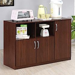 《HOPMA》DIY巧收三門六格廚房櫃-寬118.7 x深40 x高81.9cm