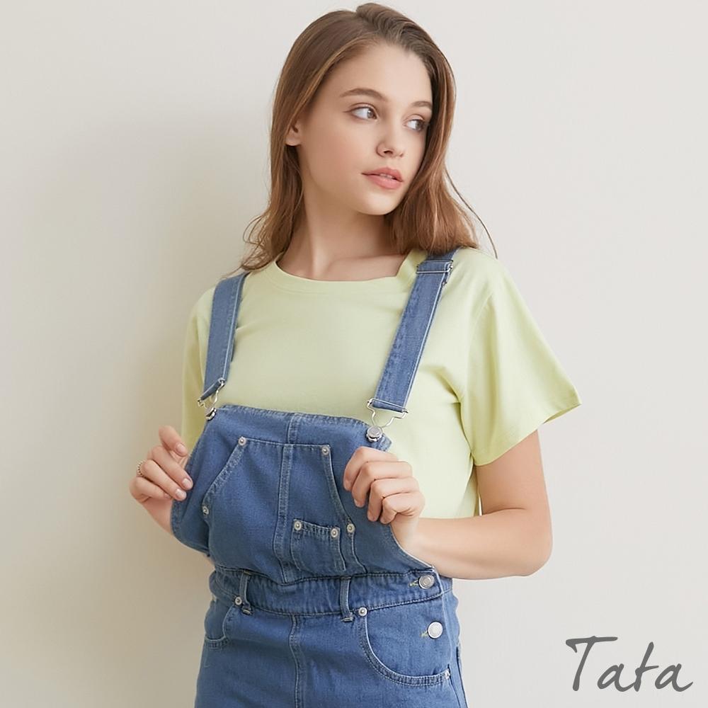 圓領素色短版露腰上衣 共三色 TATA-F