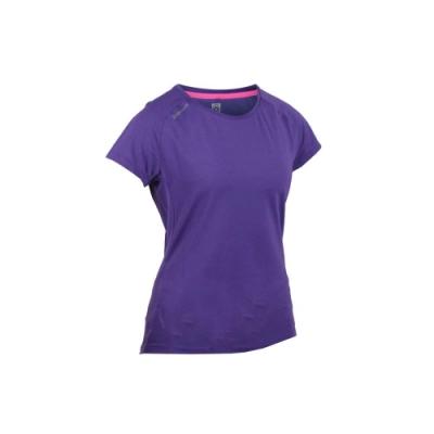 FIRESTAR 女彈性短袖圓領T恤-慢跑 路跑 紫