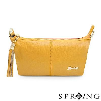 SPRING-微風城市輕量流蘇側背包-明亮黃
