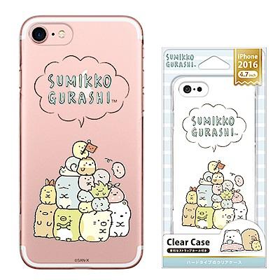 iPhone 8/7 拉拉熊 PC/透明/金箔 手機硬殼 4.7吋-角落生物大團...