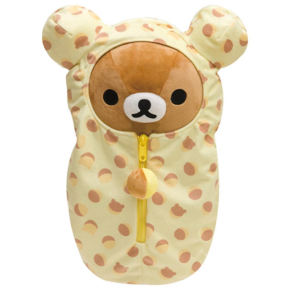 拉拉熊懶熊布偶衣系列睡袋毛絨公仔 (M)。懶熊 San-X