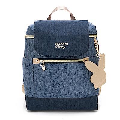 PLAYBOY-  後背包 單寧世代系列 -藍色
