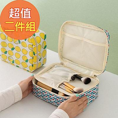 【暢貨出清】JIDA 可愛繽紛加厚大容量防潑水盥洗化妝包(2入)