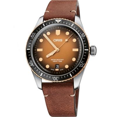 ORIS豪利時 DIVERS SIXTY-FIVE落日餘暉青銅機械腕表 (0173377074356-0752045)-40mm