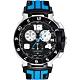 TISSOT T-Race MotoGP 專業限量賽車計時腕錶-黑x藍/45mm T0484172720700 product thumbnail 1