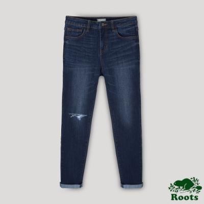 Roots 女裝- 緊身九分丹寧褲-藍色