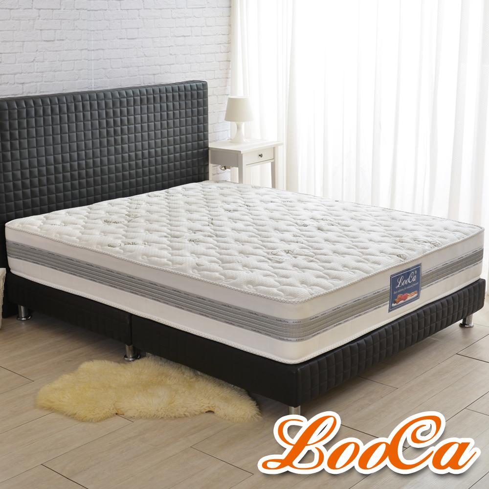 LooCa 法國防蹣+防蚊+護框護背硬式獨立筒床墊-雙人5尺