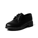 韓國KW美鞋館-都會優雅粗跟學生鞋-黑色(啞光款)